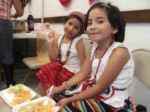 Girls celebrating Mexican Independence Day