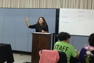 Sara teaching in Chicago