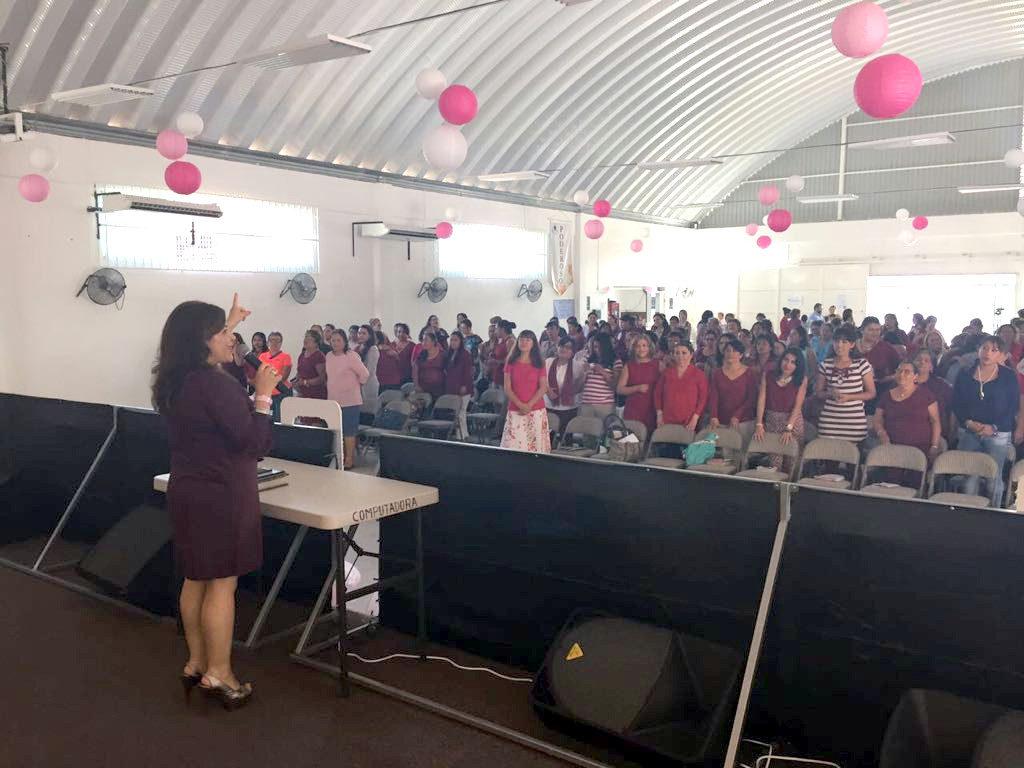Sara sharing in the women's conference in Veracruz, November, 2016